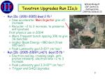 tevatron upgrades run iia b
