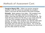 methods of assessment cont