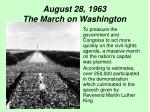 august 28 1963 the march on washington