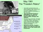 may 1961 the freedom riders