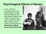 psychological effects of racism