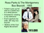 rosa parks the montgomery bus boycott 1955