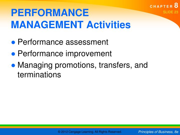 PERFORMANCE MANAGEMENT Activities