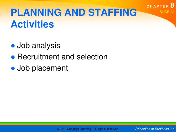 PLANNING AND STAFFING