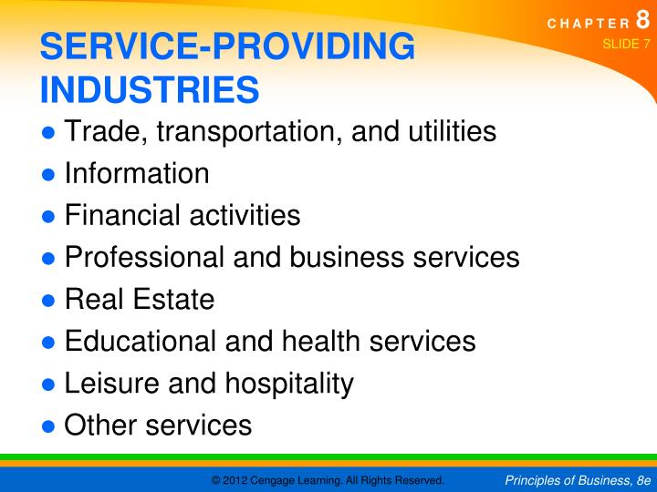 SERVICE-PROVIDING INDUSTRIES
