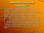 aspect of fitness and explanation