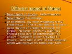 different aspect of fitness