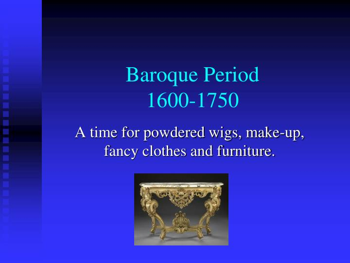 baroque period 1600 1750 n.