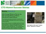 cto alumni success stories