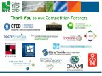 thank you to our competition partners