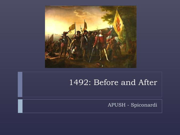 1492 before and after n.