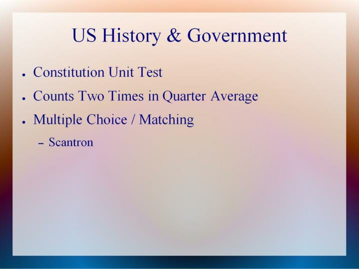 Us history government