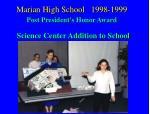 marian high school 1998 1999 post president s honor award