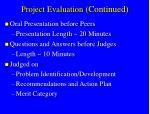 project evaluation continued1