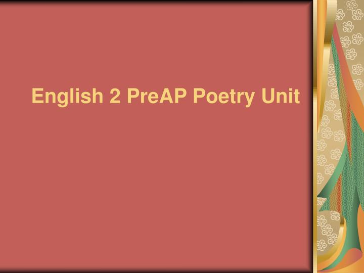 english 2 preap poetry unit n.