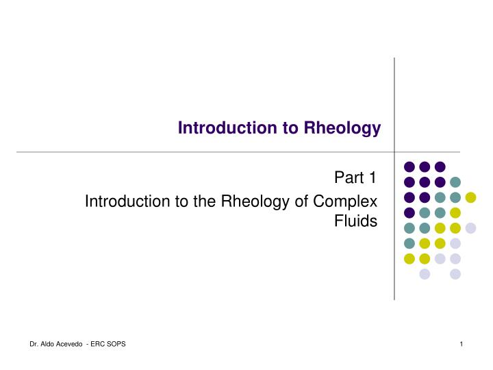 introduction to rheology n.