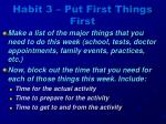habit 3 put first things first6