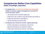 competencies reflect core capabilities skills knowledge capacities