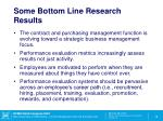 some bottom line research results