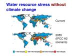 water resource stress without climate change