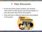7 class discussion