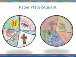 paper plate student