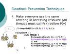 deadlock prevention techniques33