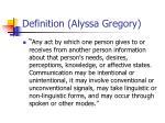 definition alyssa gregory