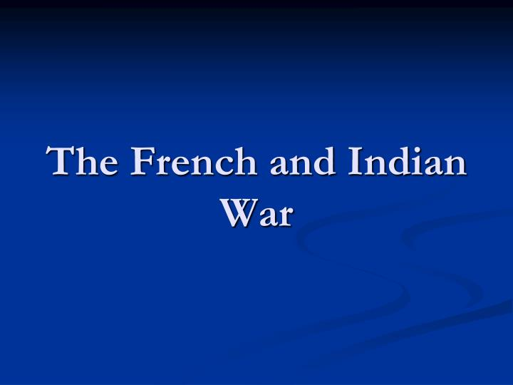 the french and indian war n.