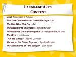 language arts content