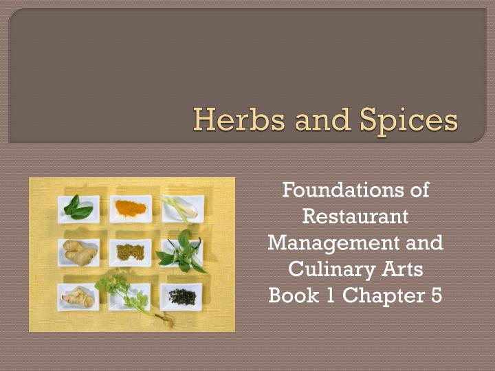 herbs and spices n.