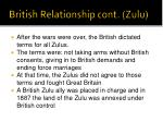 british relationship cont zulu