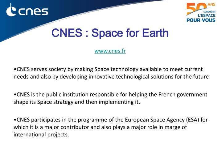 cnes space for earth www cnes fr n.