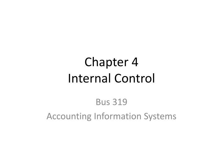 chapter 4 internal control n.