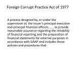 foreign corrupt practice act of 1977