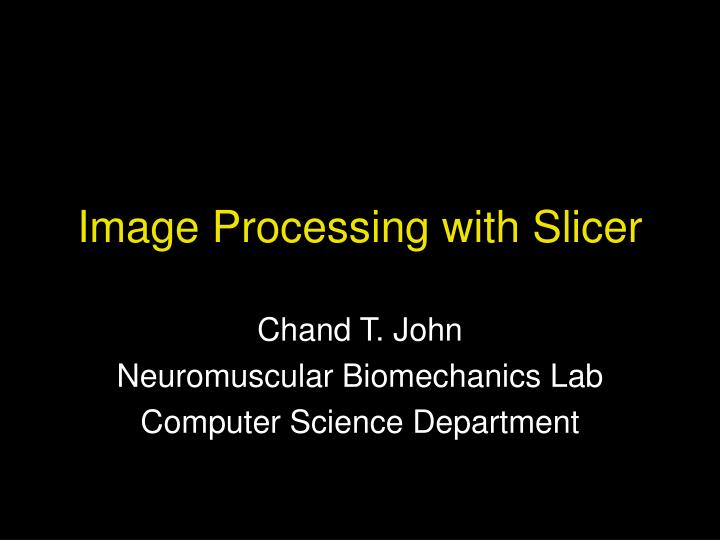 image processing with slicer n.