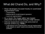 what did chand do and why