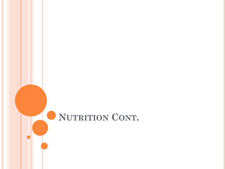 nutrition cont n.