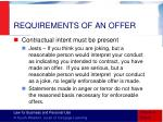 requirements of an offer1