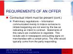 requirements of an offer2