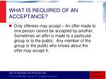 what is required of an acceptance1