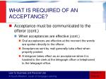 what is required of an acceptance10