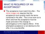 what is required of an acceptance2
