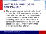 what is required of an acceptance3