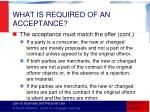 what is required of an acceptance4