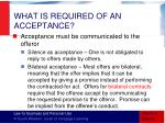 what is required of an acceptance5