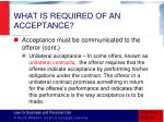 what is required of an acceptance6