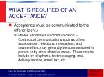 what is required of an acceptance7