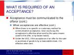what is required of an acceptance9