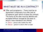 what must be in a contract1